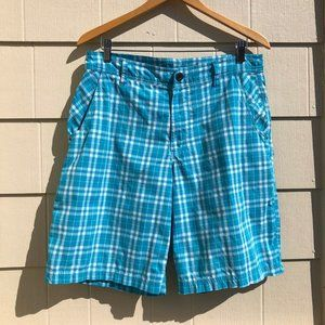 Lululemon Mens Kahuna Plaid Shorts Flat Front